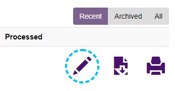 Benefits Self-Service Edit Icon