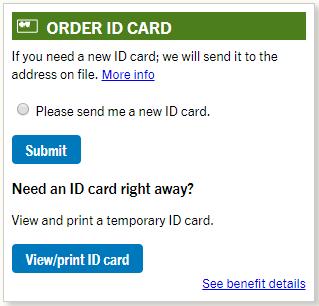 View/print ID card button