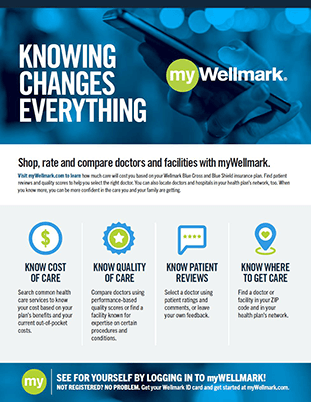 Front cover of the Wellmark Care Finder Flyer