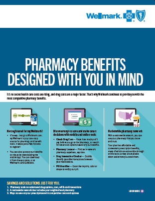 Front cover of the Wellmark Drug Cost Tool Flyer