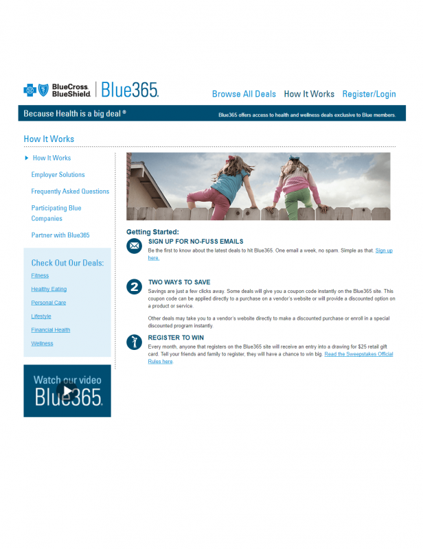 Front cover of the Wellmark Blue365 Flyer