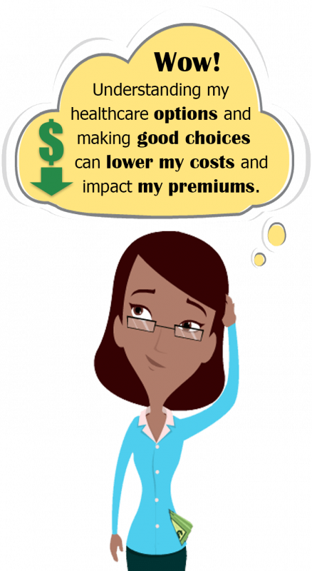 Wow! Understanding my health care options and making good choices can lower my costs and impact my premiums