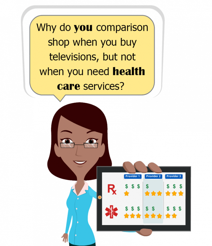 Why do you comparison shop when you buy televisions, but not when you need health care services.